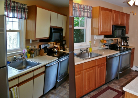Big Difference After Cabinet Refacing!