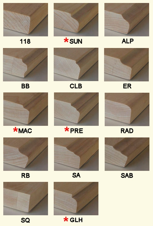 Wood Door Edge Profiles Cabinet Doors Depot