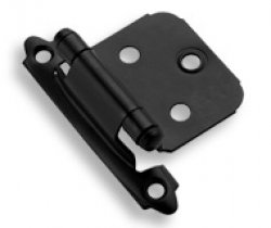Black Self-Closing<br>Variable Overlay Hinges<br>(sold in pairs)