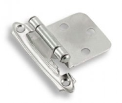 Polished Chrome Self-Closing<br>Variable Overlay Hinges<br>(sold in pairs)